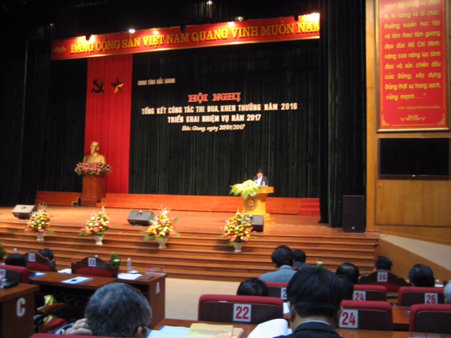 Bắc Giang: Triển khai thực hiện Nghị quyết của Chính phủ về phát triển kinh tế - xã hội năm 2017